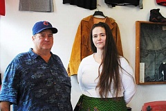 NEWS-TIMES PHOTO: STEPHANIE HAUGEN - James McCalister and Jessica Hiestand opened Pacific Coast Vintage clothing store in February.