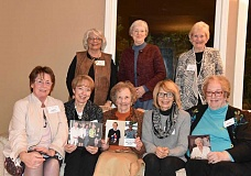 SUBMITTED PHOTO  - The Golden Arrows have been members of Pi Beta Phi for 50 years or more. They include, from left: back row, Suzi Ramsby Bayless, Pat Flanagan Peters, Judy Ross Swanson; and front row, Katie Freeman Bullard, Jeanne Krouse Bliss, Patty Batchelder Melrose, Linda Laush Livermore and Doris Rademacher-Dramov. Bayless, Bullard and Melrose are founding members of the Lake Oswego-Dunthorpe Alumnae Club.