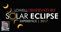 SUBMITTED ILLUSTRATION AND PHOTO - Kevin Schindler, historian and public information officer for Lowell Observatory, which will bring staff and telescopes to Madras for the Aug. 21 total solar eclipse, discusses eclipses.