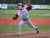 REVIEW/NEWS PHOTO: JIM BESEDA - Milwaukie's Bradley McVay is 2-3 with a 0.52 ERA in five starts this spring for the Mustangs.