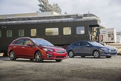 COURTESY SUBARU - The 2017 Subaru Impreza is available as both a good-looking hatchabck or sedan. It is completely redesigned and includes many improvements.