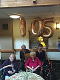 COURTESY PRESTIGE SENIOR LIVING BEAVERTON HILLS - Verna Peterson, in pink, celebrated her 105th birthday with family and friends.