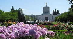 FILE PHOTO - The Oregon State Capitol building in Salem.