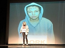 COURTESY PHOTO: DAVID WARNER - 'Dork' was one of the harmful labels discussed during 'Marked' last week at Forest Grove High School.