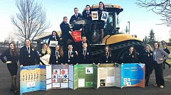 SUBMITTED - Newberg FFA teacher Bailey Field took 16 students to the Oregon FFA State Convention March 17-24 in Redmond, bringing home four first-place agri-   science experiments awards and two FFA State Degrees.