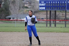 WILL DENNER/MADRAS PIONEER - The Madras softball team has developed a solid 1-2 pitching punch in freshman Jiana Smith-Francis (above) and sophomore Lizzie Steuart.