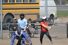 WILL DENNER/MADRAS PIONEER - Kinzi Jagels (18) went 2 for 6 across two games against Heppner/Ione with an RBI and a run scored.