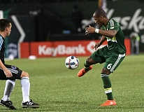 TRIBUNE PHOTO: JOSH KULLA - Highly regarded midfielder Darlington Nagbe has been showing more of his shooting power and prowess this season for the Portland Timbers.