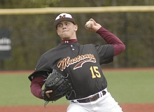 PAMPLIN MEDIA: MATT RAWLINGS - Milwaukie's Riley Howard pitched six innings and surrendered two unearned run on three hits with three wlaks and seven strikeouts in Tuesday's 9-2 road win over Sandy.