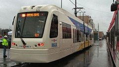 FILE PHOTO - A MAX light rail train in a file photo.