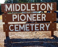 SUBMITTED PHOTO - Middleton Pioneer Cemetery is looking for volunteers to help with cleaning up the grounds on May 20 in preparation for Memorial Day.