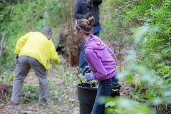 SUBMITTED PHOTO  - Volunteers are needed Saturday, May 6, to help prep the grounds of the ELC as the college works to restore the Newell Creek headwaters.