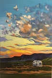 SUBMITTED PHOTO: LYNN PASS  - West Linn artist Lynn Pass will open an exhibit of her art May 7 at the West Linn Public Library. Most of the pieces are inspired from glamping trips in her Airstream. This piece is titled Ana Reservoir.