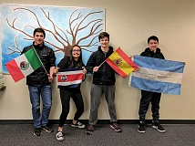 SUBMITTED PHOTO: COURTESY OF LAKERIDGE HIGH SCHOOL - The Silver Medal winners are (from left): Jared Bartunek, Isa Melendez, Mitchell Parker and Deepak Kaushal.