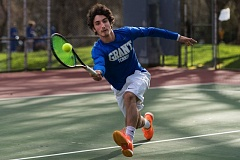 COURTESY: JOHN DAVENPORT - Training with good players at the University of Portland, and focus on the areas of his game that most need improvement, have helped to strengthen the tennis game of Grant High's Andrew Finkelman.