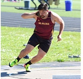 REVIEW/NEWS PHOTO: JIM BESEDA - Milwaukie's Noah Ramirez ranks second among the state's Class 5A throws in the shot put with a mark of 55 feet, 11 inches.