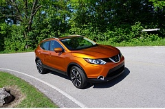 PORTLAND TRIBUNE: JEFF ZURSCHMEIDE - Although the 2017 Nissan Rogue Sport bears a strong resemblence to the existing Rogue crossover SUV, it is a foor shorter but still offers a lot of interior room and standard features.