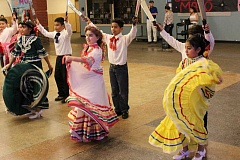 SPOKESMAN PHOTOS: ANDREW KILSTROM - Baile Folklorico dancers put on a show for community members Thrusday, May 4 at Wilsonville High School.