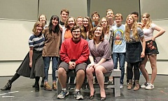 REVIEW PHOTOS: JILLIAN DALEY - The directors and cast of Lakeridge High School's Second Stage production of 'Almost, Maine' pose for a photo.