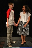 COURTESY OF DEBRA STEVENS - Cole Braun and Alejandra Vargas play Troy and Gabriella in Hazelbrook Middle School's adaptation of Disney's 'High School Musical Jr.'