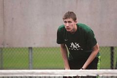PHIL HAWKINS - North Marion senior Hunter Martin (above) along with doubles partner junior Abe Cervantes will make the trip to Corvallis for the 4A/3A/2A/1A state championship tournament after placing second at districts.