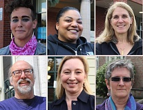 BETH SLOVIC - Portland Public School enjoyed three competitive races for seats on its school board. Clockwise from top left: Joseph 'Josie' Simonis, Jamila Singleton Munson, Julia Brim-Edwards, Rita Moore, Virginia La Forte and Scott Bailey.