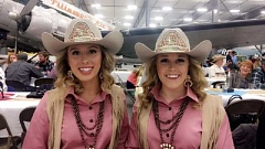 SUBMITTED IMAGE - Canby's own Amber Cook was tabbed to be this year's Canby Rodeo queen. She is joined by princess Savannah Egbert, of Boring.