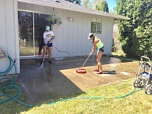 Klein and Intile get most of their pressure washing business through word of mouth.