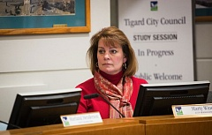 TIMES PHOTO: ADAM WICKHAM - Tigard City Manager Marty Wine warned in her budget message that the city cannot maintain its current level of service if its expenditures continue to grow faster than revenues.