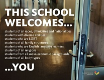 An equity policy approved by the Oregon City School District and this poster that has been displayed at OC schools this year have been up for debate by board members.