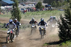GINA ANDERSON - Some of the 170 participants in the motocross races set out on the course on Sunday, at the 11th annual Steel Stampede at Crooked River Ranch. Another 35 people took part in the trials on Saturday at the Ranch. The event features vintage bikes.