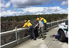SUBMITTED PHOTO - Rescuers work to recover a body from the Crooked River Gorge on May 12.