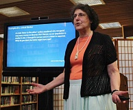 REVIEW PHOTO: KELSEY OHALLORAN - Teacher and librarian Donna Cohen leads a 'Civics for Adults' class at the Lake Oswego Public Library.