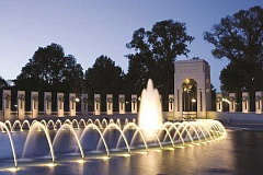 STOCK IMAGE - World War II memorial in Washington, D.C. is something to behold