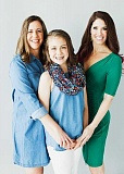 PHOTO COURTESY OF TRACEY FREEMAN - Anna Seely poses with her mom Kim (left) and Kyra's Bake Shop owner Kyra Bussanich in a photo taken in advance of the Leukemia & Lymphoma Societys annual Man and Woman of the Year gala in downtown Portland.