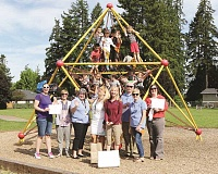COURTESY PHOTO: ANNEMARIE H. JACQUES - The Hillsboro Schools Foundation has been surprising schools across the district this week with grants to help pay for special projects. Jackson Elementary School received $5,000 to help pay for new play equipment, which students are helping to design.