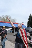 TRIBUNE PHOTO: LYNDSEY HEWITT - Christian gave a Nazi salute at the 'March for Free Speech' on April 29.