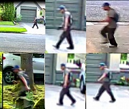 PORTLAND POLICE BUREAU - Police released residential surveillance system images of the suspect in the afternoon. Residents in the Laurelhurt area were advised to stay inside until at least 5 p.m., unless he is arrested.