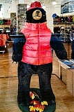 COURTESY OF THE PORTLAND POLICE BUREAU - The sidewalk bear figure, shown wearing its red vest in happier days. Reportedly, for the bear, happy days are here again - with the return of the stolen vest and the arrest of the thief.