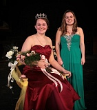 DAVID F. ASHTON - 2016 Portland Rose Festival Cleveland High School Princess Kaytlin Gaines poses for photos with fellow court member Brette Ramsay.   Cleveland Princess - 06.jpg  Photo by David F. Ashton Congratulations to 2016 Portland Rose Festival Cleveland High School Princess Kaytlin Gaines.