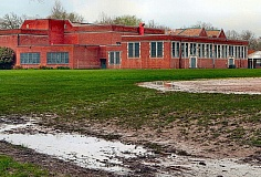 DAVID F. ASHTON - This field, at Duniway Elementary School, a PP&R-permitted location, was closed for at least two weeks in March, until the soggy area dried out. The same was true for most Portland Parks fields throughout Inner Southeast, due to our wet winter this year.
