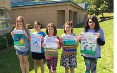 SUBMITTED BY DEER CREEK ELEMENTARY - Deer Creek 811 poster contest winners include (from left) fifth-grader Molly with first place, fourth-grader Anya with third place, third-grader Sierra with first place, fifth-grader Jordyn with second place, and fifth-grader Jenniffer with third place.