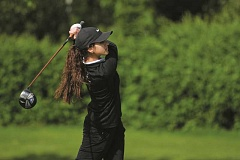 PHIL HAWKINS - Woodburn junior Michelle Torres placed sixth in the final regular season match on Monday at OGA Golf Club.