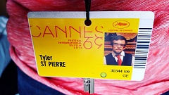 SUBMITTED PHOTO - Beaverton resident and ACMA graduate Tyler St. Pierre displays his credential for entry into all the venues at the Cannes Film Festival, where his film, 'God Save The Mob,' is being shared through a special on demand viewing platform.