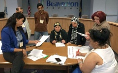 COURTESY CITY OF BEAVERTON - Members of Beaverton's 2016 BOLD program gather together at the Beaverton Building during one of this year's training sessions; the program aims to help immigrants, refugees and people of color attain leadership positions and to connect with local government.