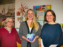 RITA A. LEONARD - Leaders at the Childrens Healing Art Project, newly relocated to Sellwood, are - from left - Executive Director Sarah Panetta, Art Club Coordinator Grace Littig, and Program Manager Faye Pendergrass.