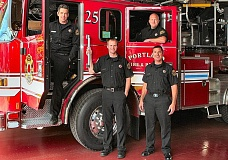 DAVID F. ASHTON - Woodstock firefighters tell THE BEE theyre pleased to be riding the new Ladder Truck 25.
