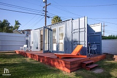 COURTESY: MONTAINER  - Montainer designed, made and installed this modified shipping container Accessory Dwelling Unit for a client in San Diego, California.