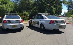 SUBMITTED PHOTO - Washington County Sheriffs deputies blocked off a section of Southwest Blanton Road east of 170th Avenue on Monday while investigators processed the scene of a fatal shooting that morning.