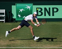 COURTESY: MIKE FREY - John Isner will be a key singles player for the U.S. Davis Cup team when it faces Croatia this weekend at Tualatin Hills Tennis Center.